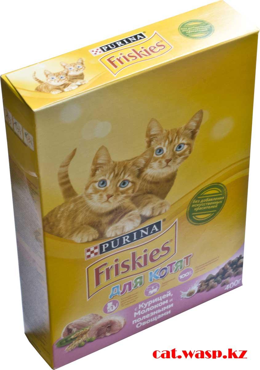 Friskies корм для котят отзыв на коробку 400 грамм
